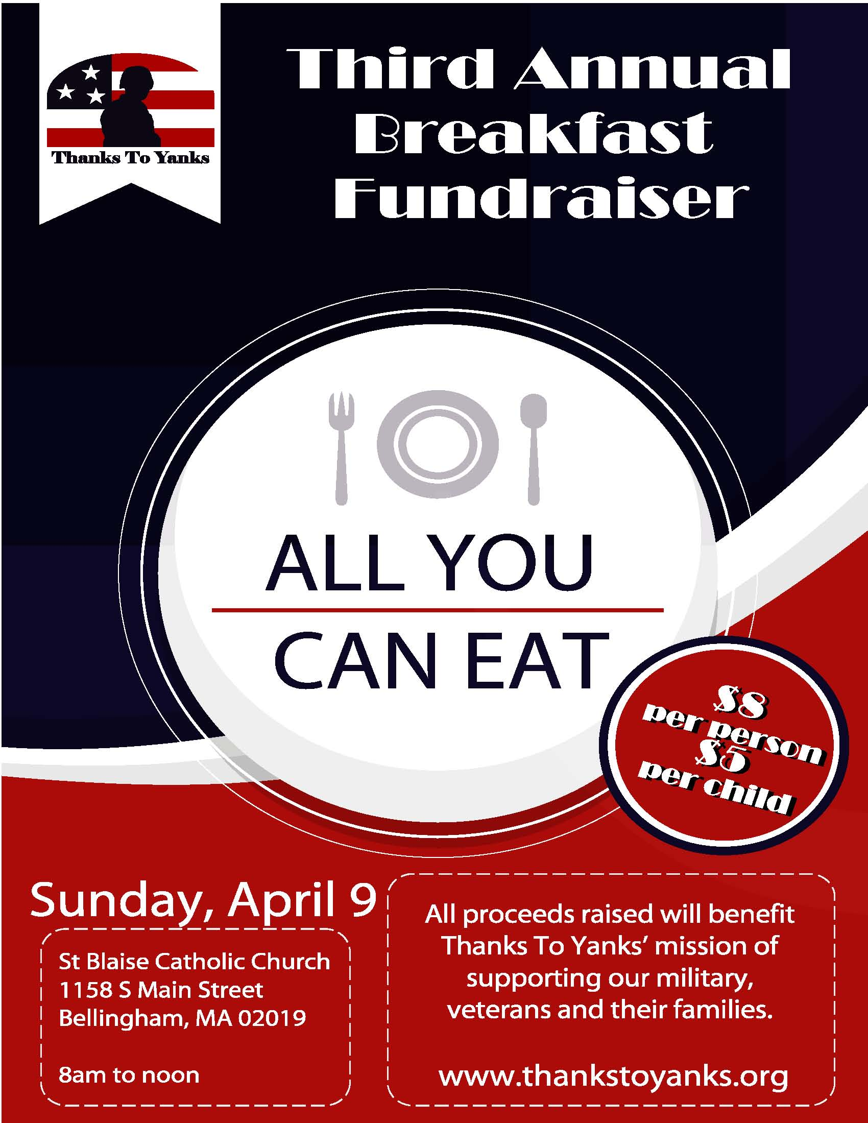 All You Can Eat Breakfast Flyer 2017