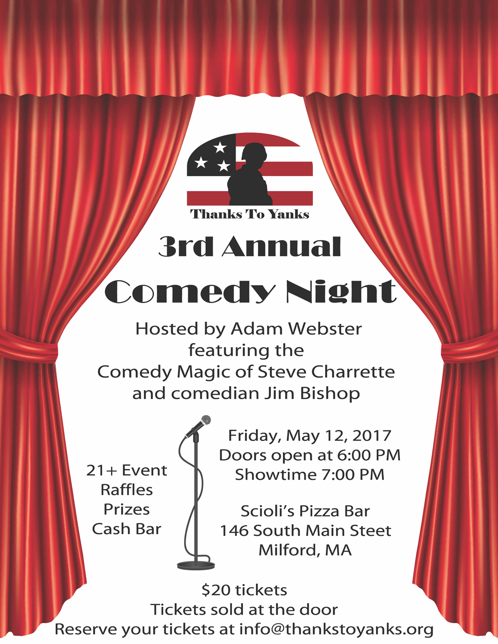Laughs for a Cause 2017 Flyer